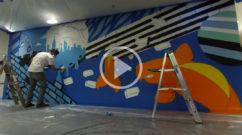 corporate office graffiti video