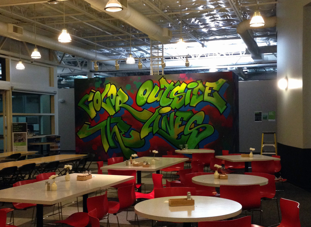 Office graffiti mural for nvidia headquarters in silicon for Corporate mural