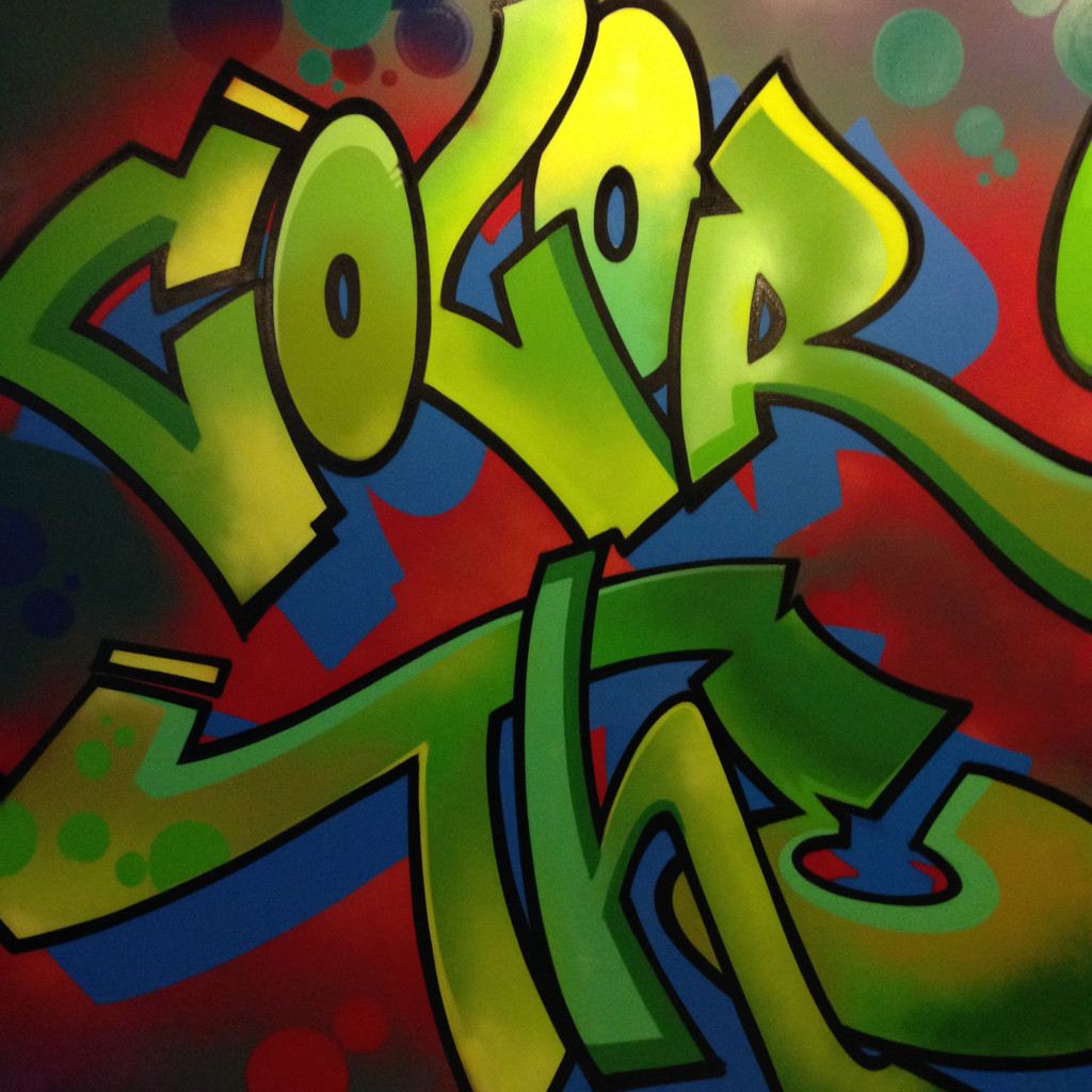 corporate office graffiti murals