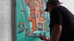 LA Live Graffiti Art