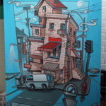 Live Graffiti Art on Canvas in LA
