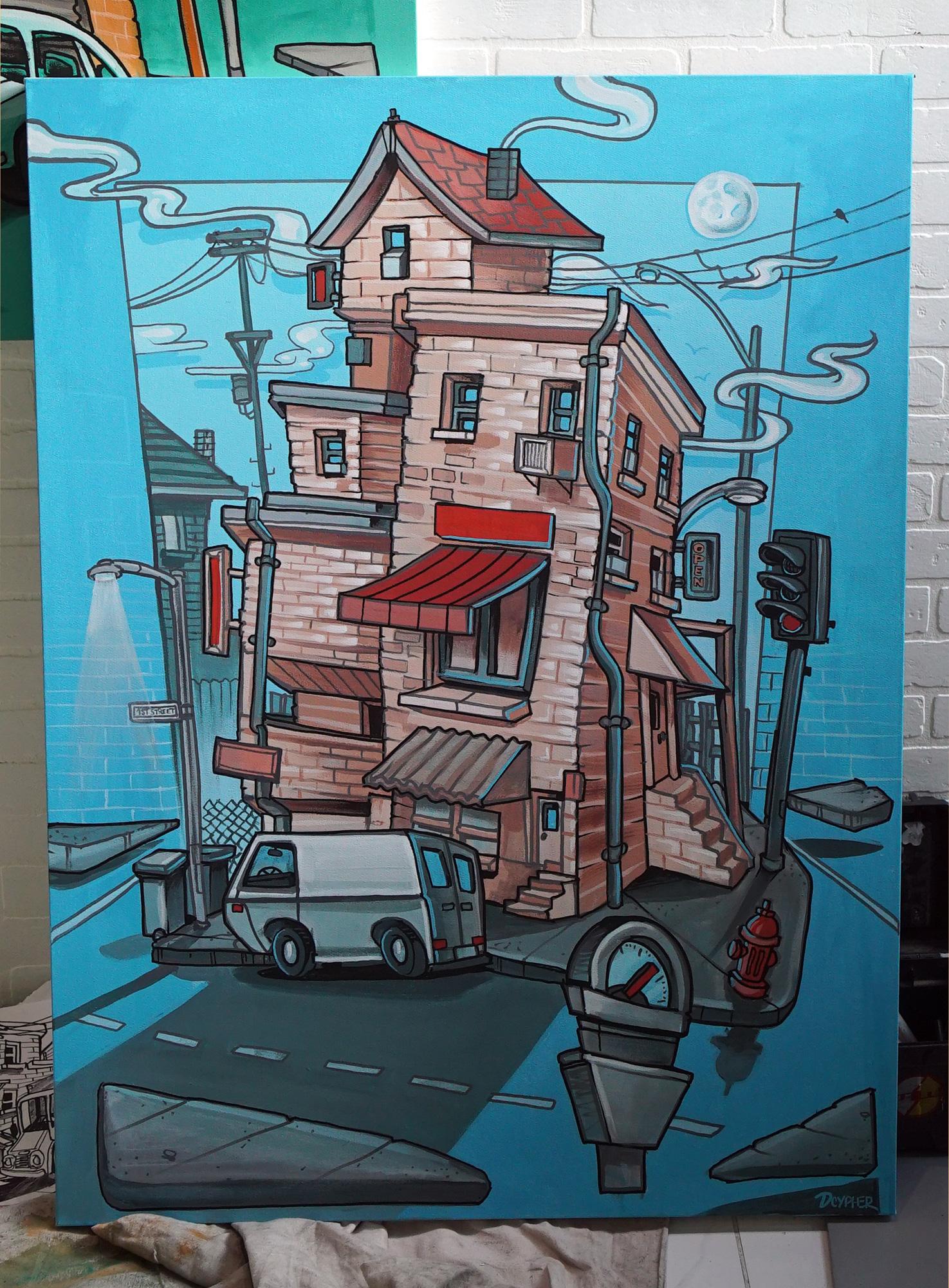live graffiti canvas airbnb