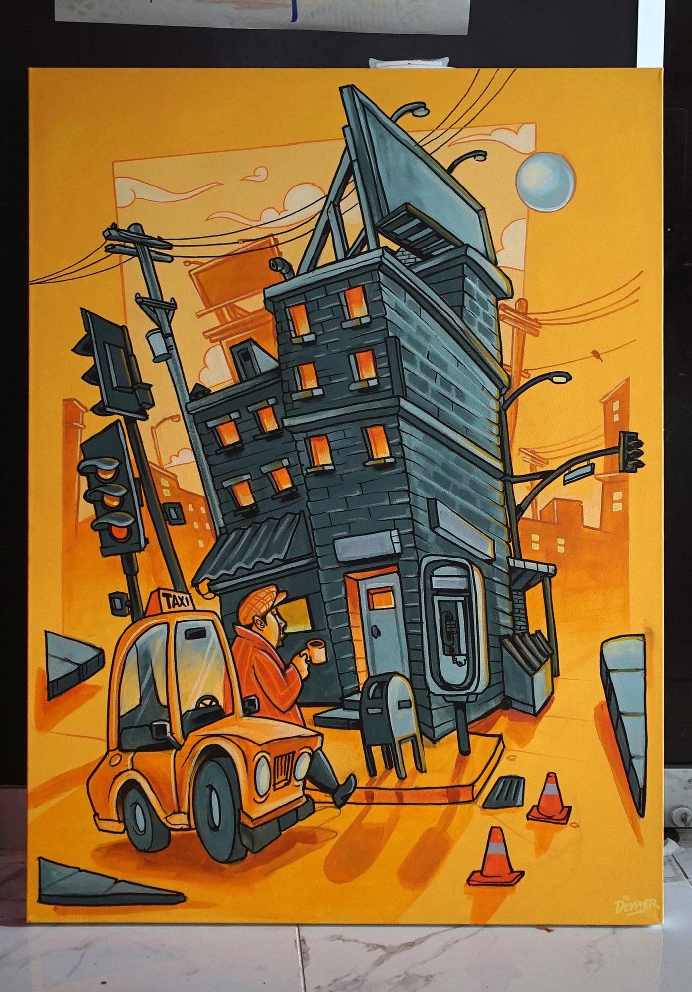 live graffiti canvas art airbnb