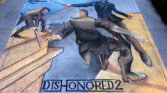 Chalk Mural in California