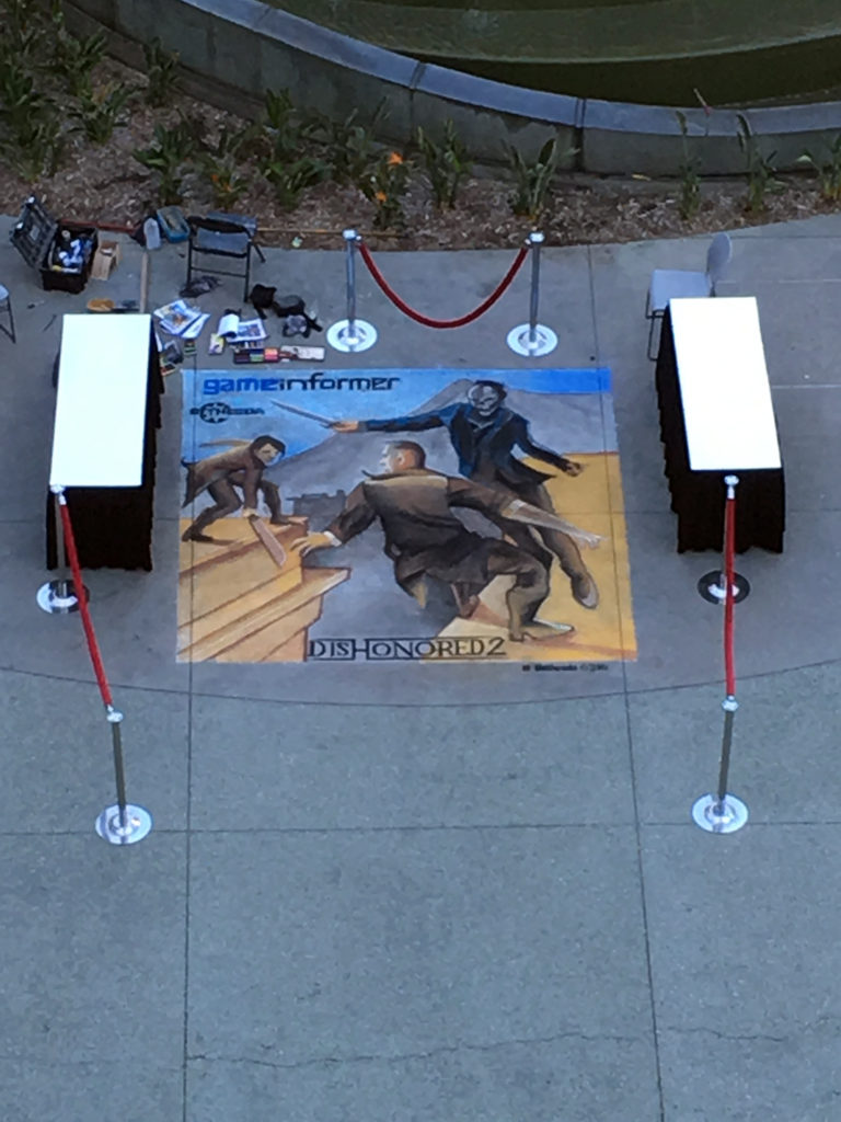 la chalk artist for hire