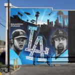 MLB Dodgers Mural Near Stadium in LA