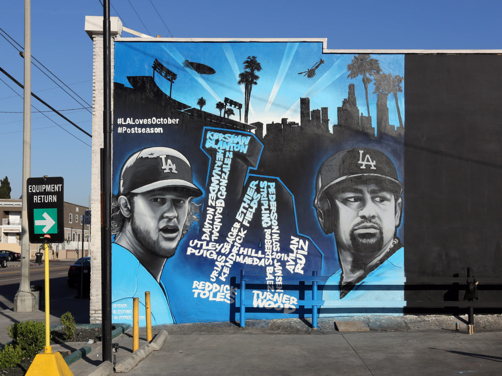 La Dodgers Mural On Venice In Los Angeles