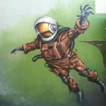 Space Astronaut Mural in LA