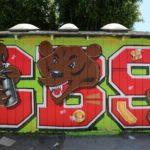 CBS Bear Graffiti Art by Self