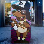 Cartoon Dog Character Street Art