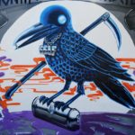 Los Angeles Mural of Crow by Self Uno