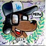 LA Graffiti Artist Dog Character