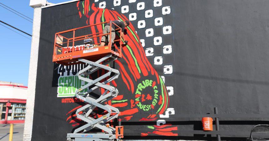 ATCQ LA Mural Progress