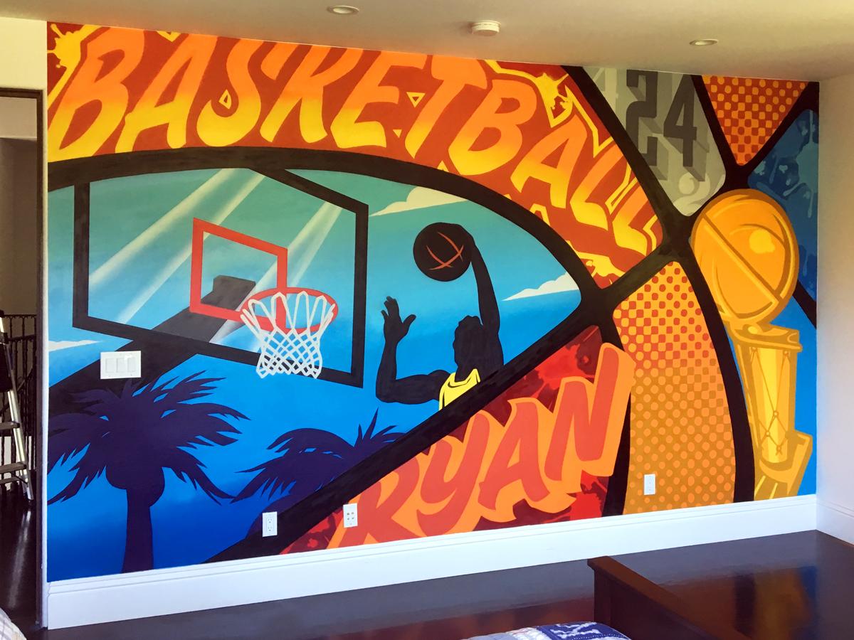 Basketball Interior Mural - Los Angeles Graffiti Artist ...
