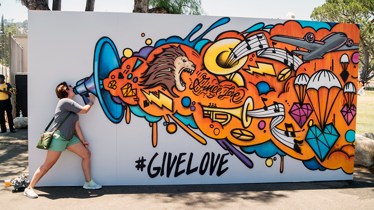 Interactive Social Media Graffiti Mural