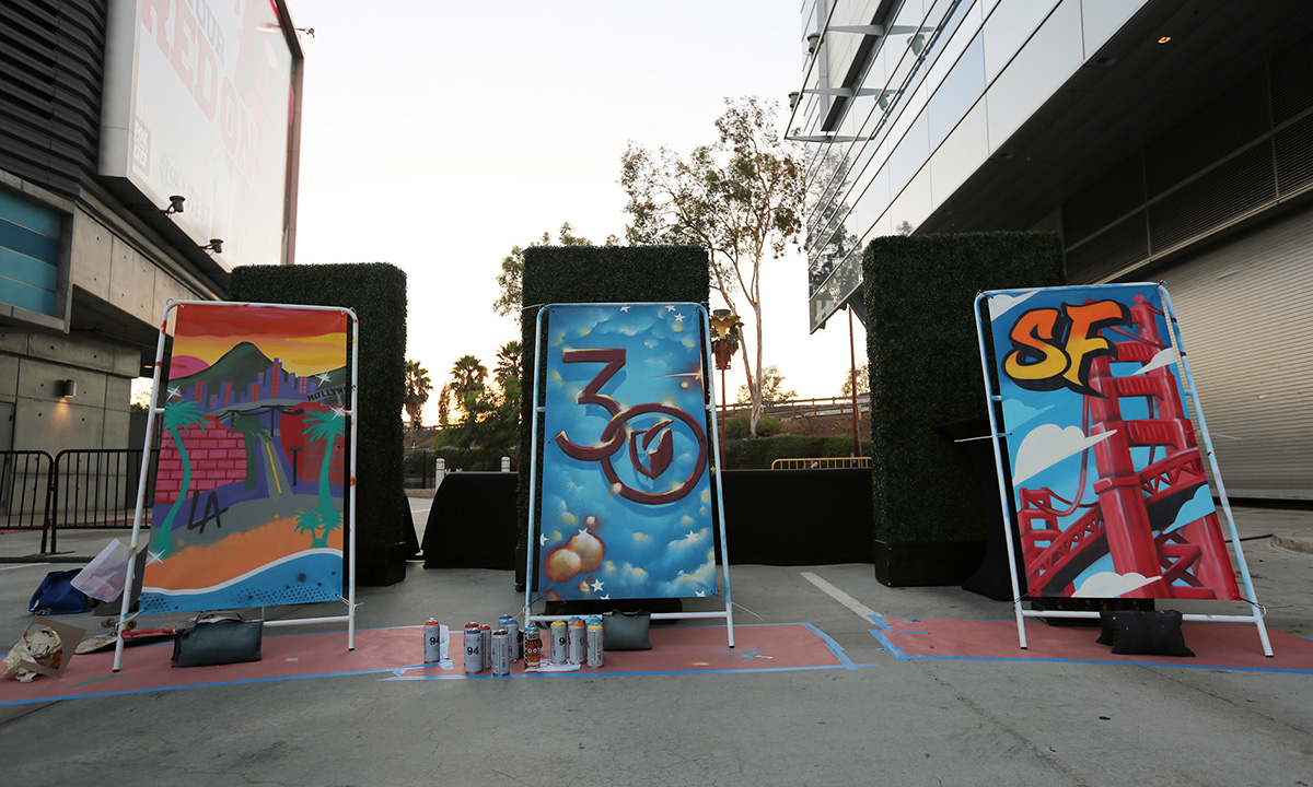 Graffiti Canvases at Event