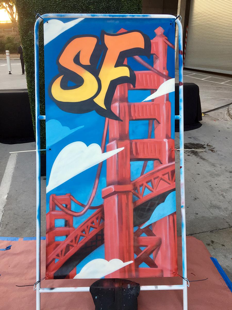 SF Live Graffiti Canvas in LA
