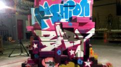 graffiti sculpture ugg