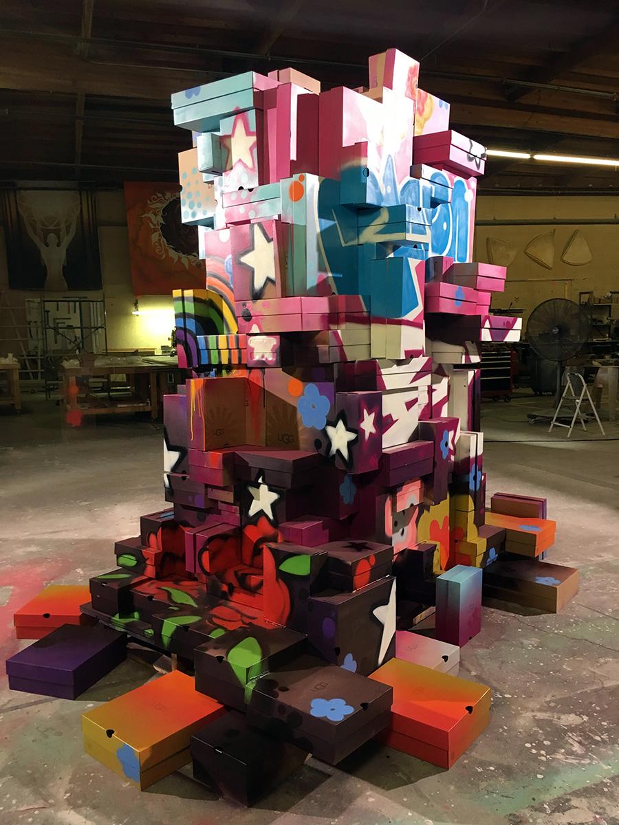 shoe box sculpture art