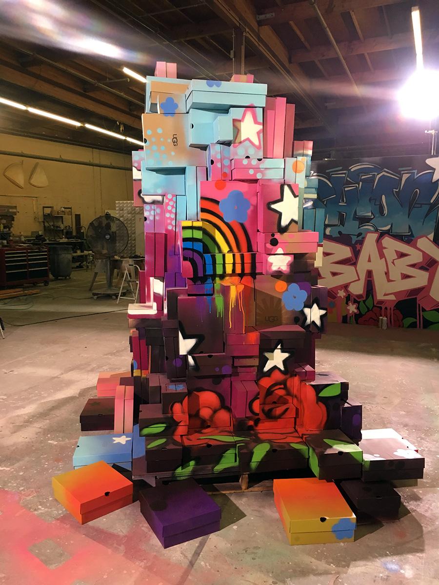 shoe box sculpture street art
